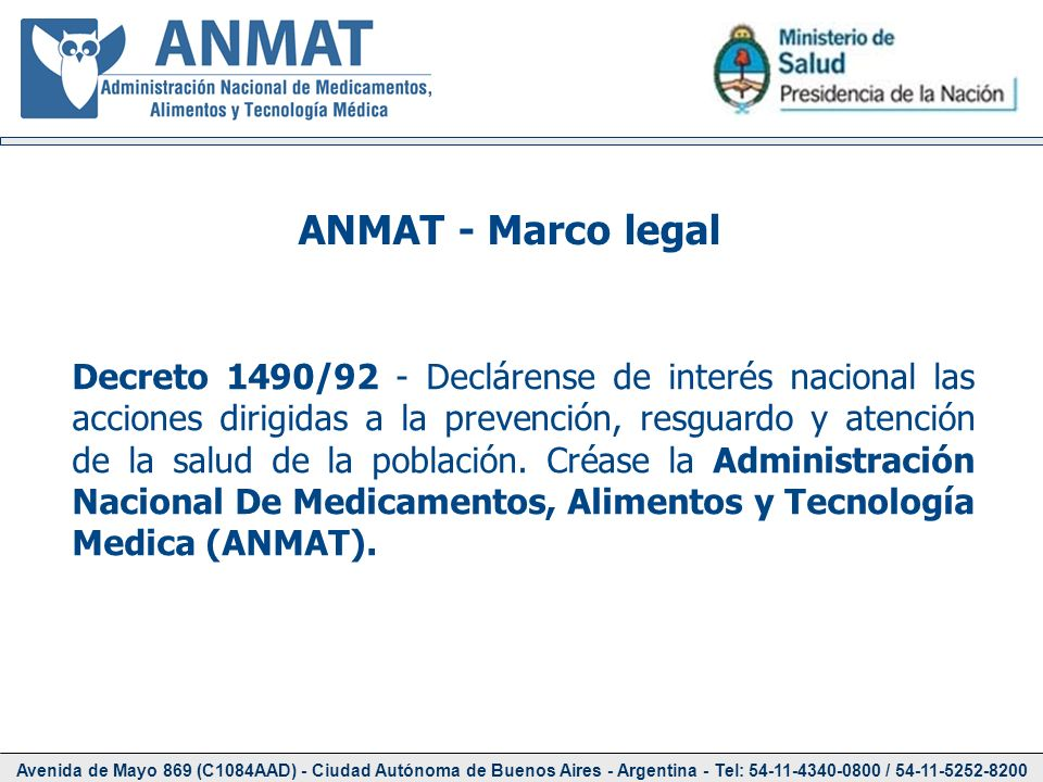 ANMAT - Marco legal