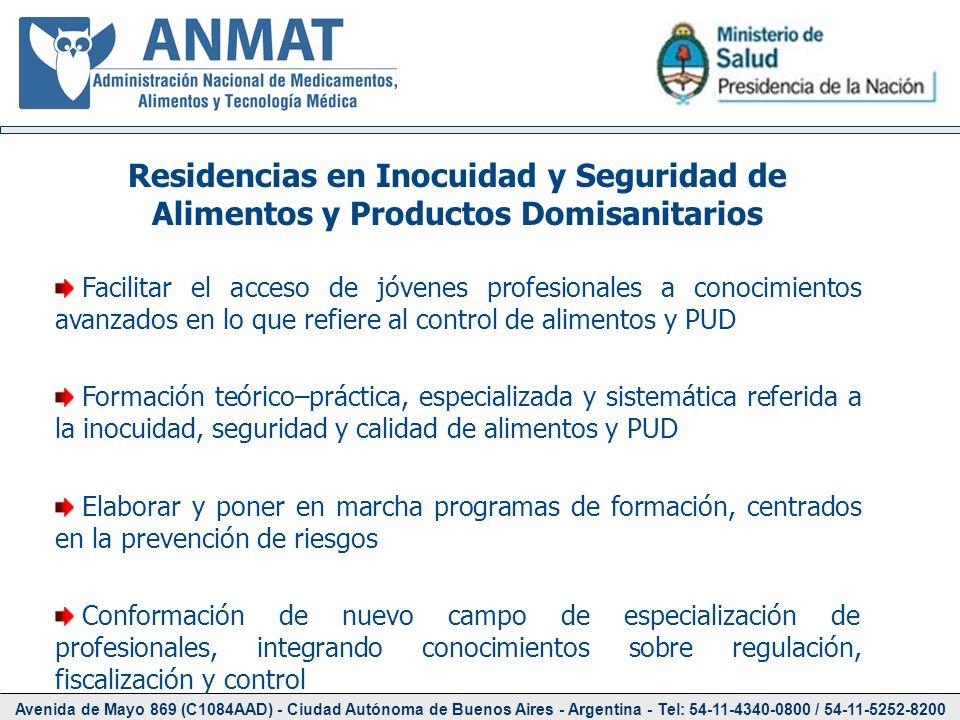Residencias en Inocuidad y Seguridad de Alimentos y Productos Domisanitarios
