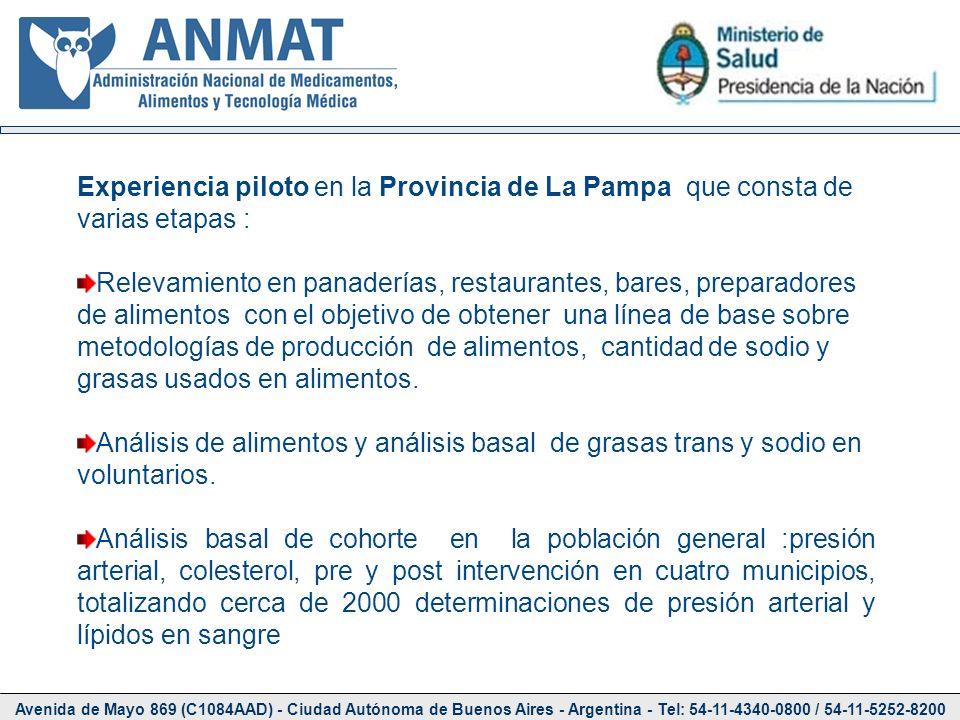 Experiencia piloto en la Provincia de La Pampa que consta de varias etapas :