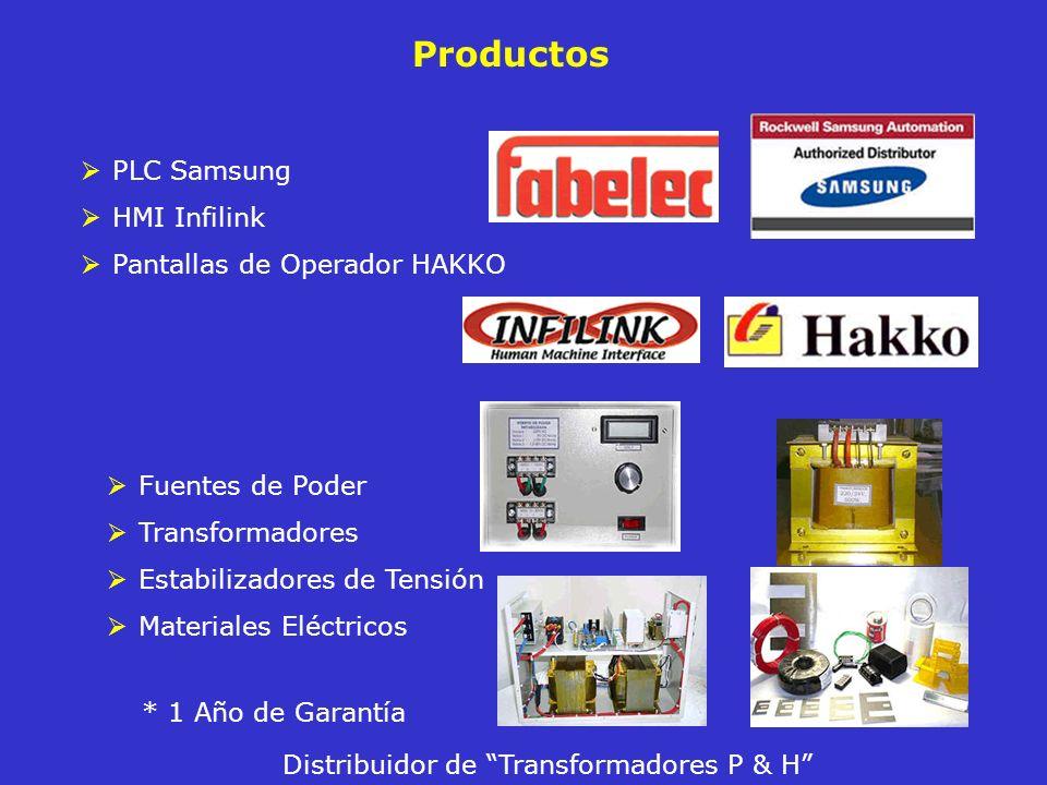 Productos PLC Samsung HMI Infilink Pantallas de Operador HAKKO