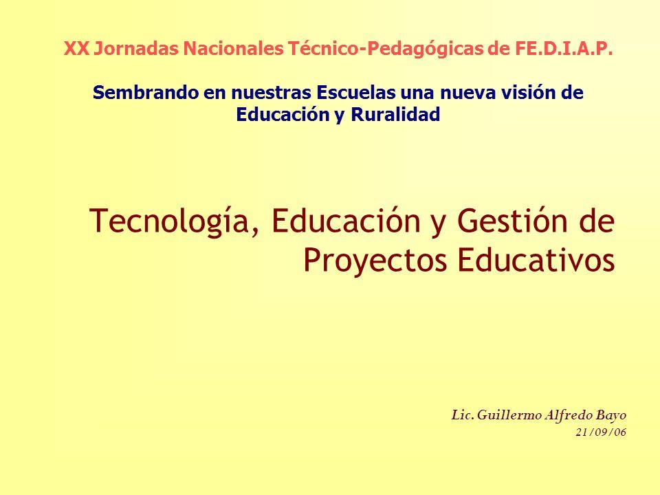 Tecnología, Educación y Gestión de Proyectos Educativos