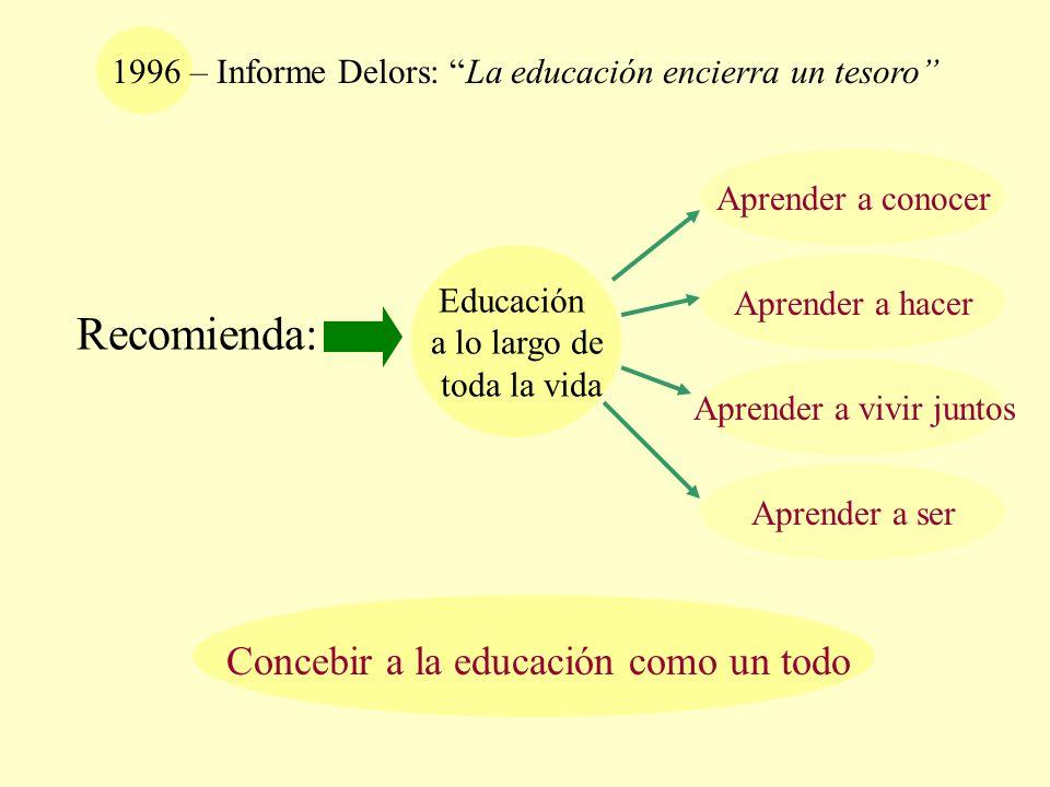Recomienda: Concebir a la educación como un todo