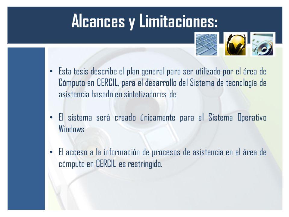 Alcances y Limitaciones: