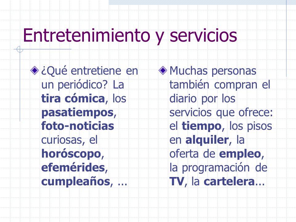 Entretenimiento y servicios