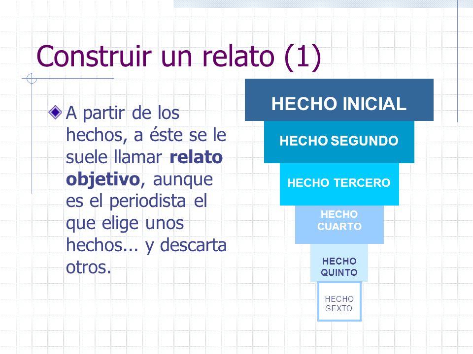 Construir un relato (1) HECHO INICIAL