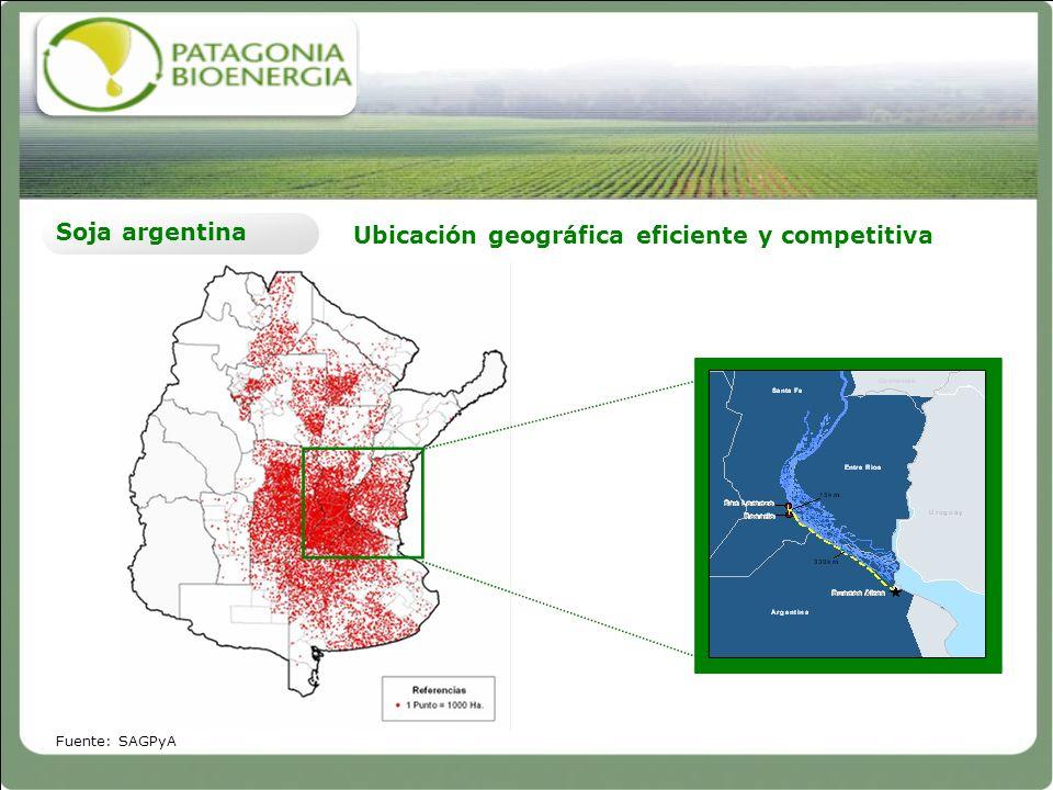 Ubicación geográfica eficiente y competitiva