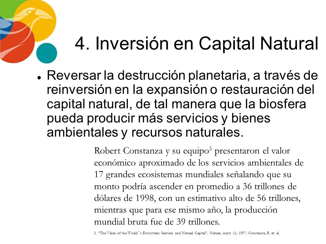 4. Inversión en Capital Natural