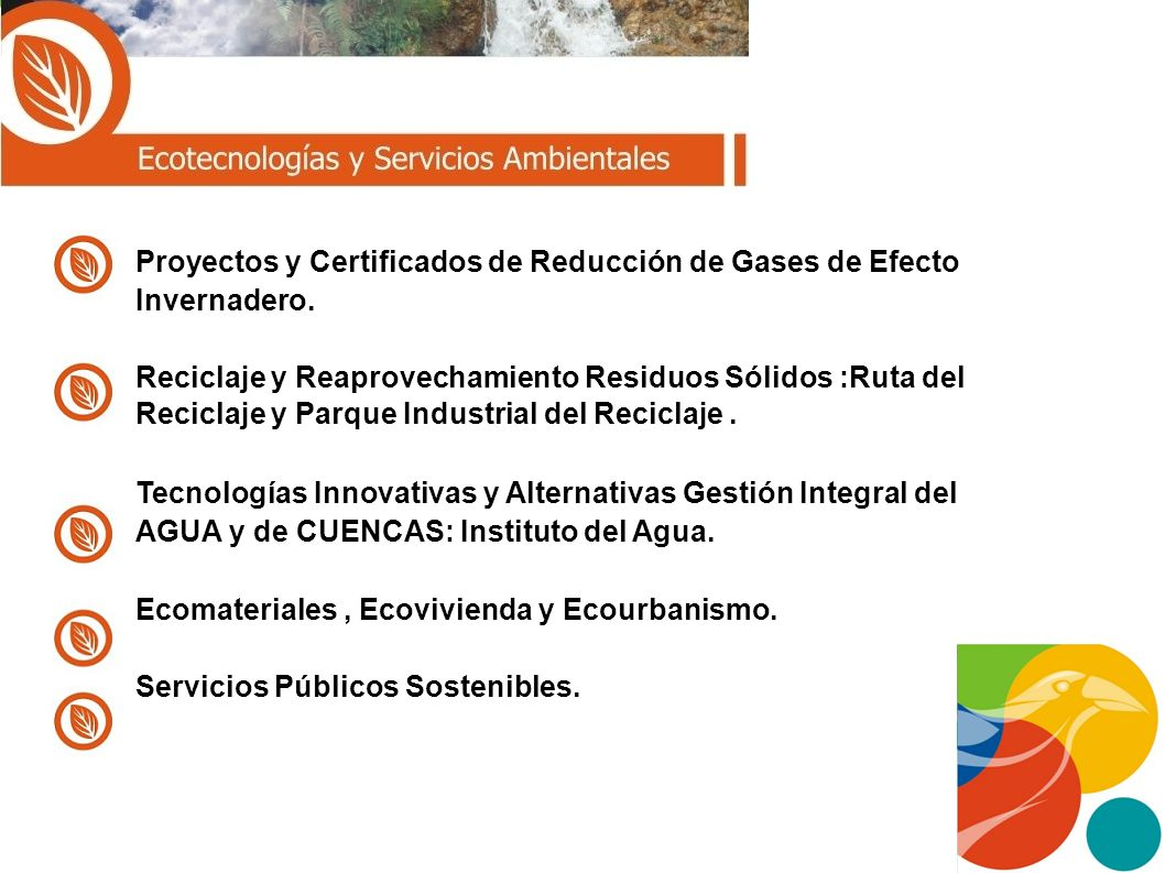 Proyectos y Certificados de Reducción de Gases de Efecto