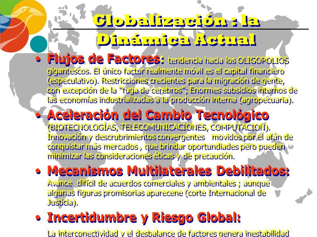 Globalización : la Dinámica Actual