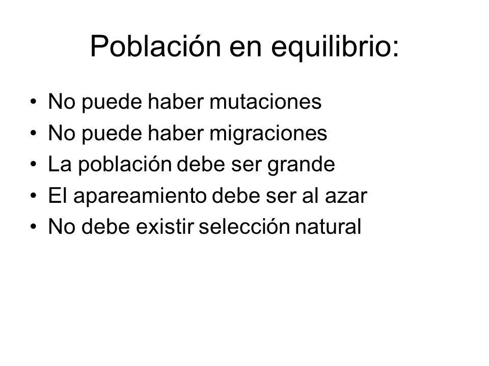 Población en equilibrio: