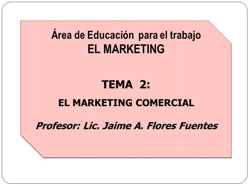 EL MARKETING Área de Educación para el trabajo TEMA 2: