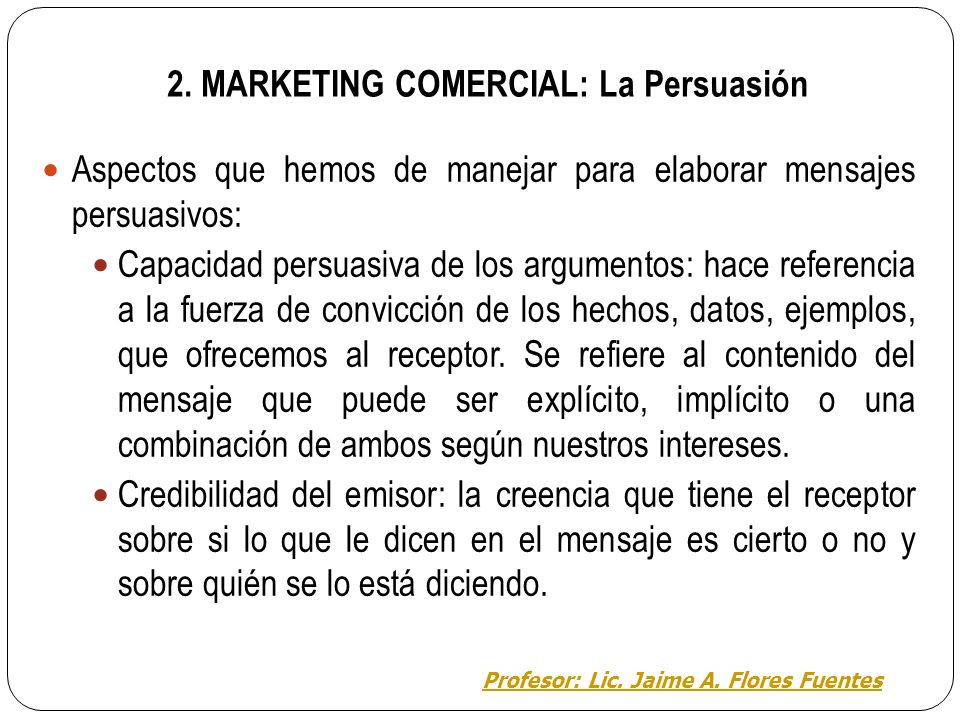 2. MARKETING COMERCIAL: La Persuasión