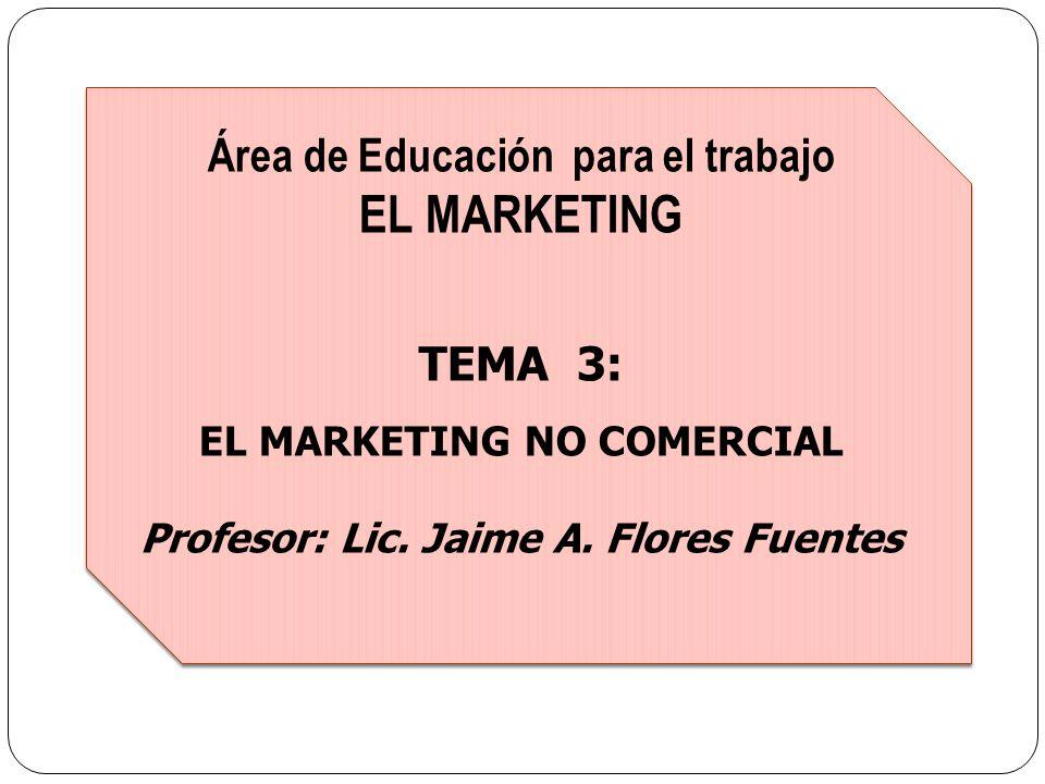 EL MARKETING Área de Educación para el trabajo TEMA 3: