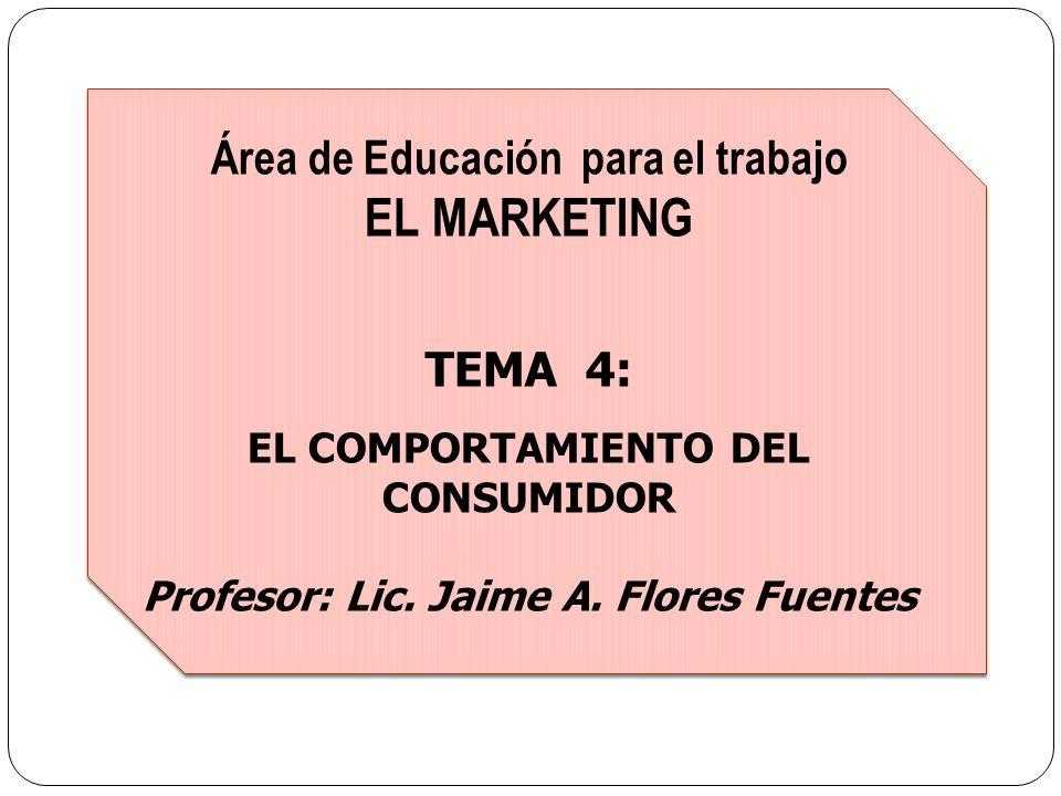 EL MARKETING Área de Educación para el trabajo TEMA 4: