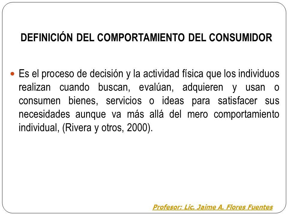 DEFINICIÓN DEL COMPORTAMIENTO DEL CONSUMIDOR