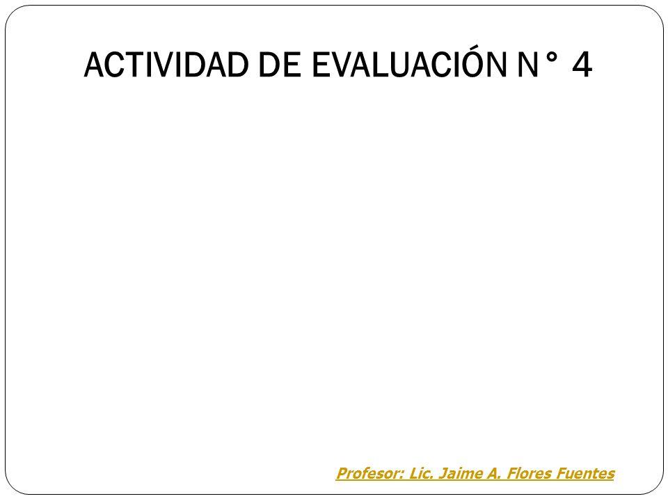 ACTIVIDAD DE EVALUACIÓN N° 4