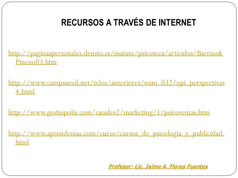 RECURSOS A TRAVÉS DE INTERNET
