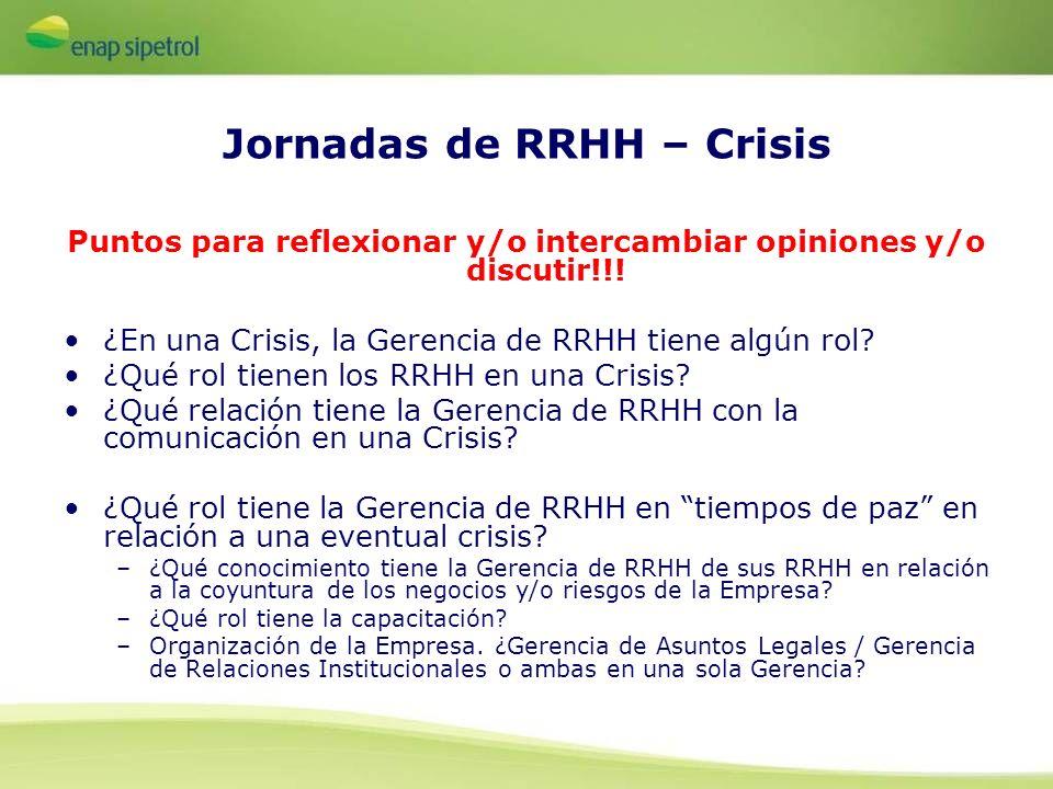 Jornadas de RRHH – Crisis