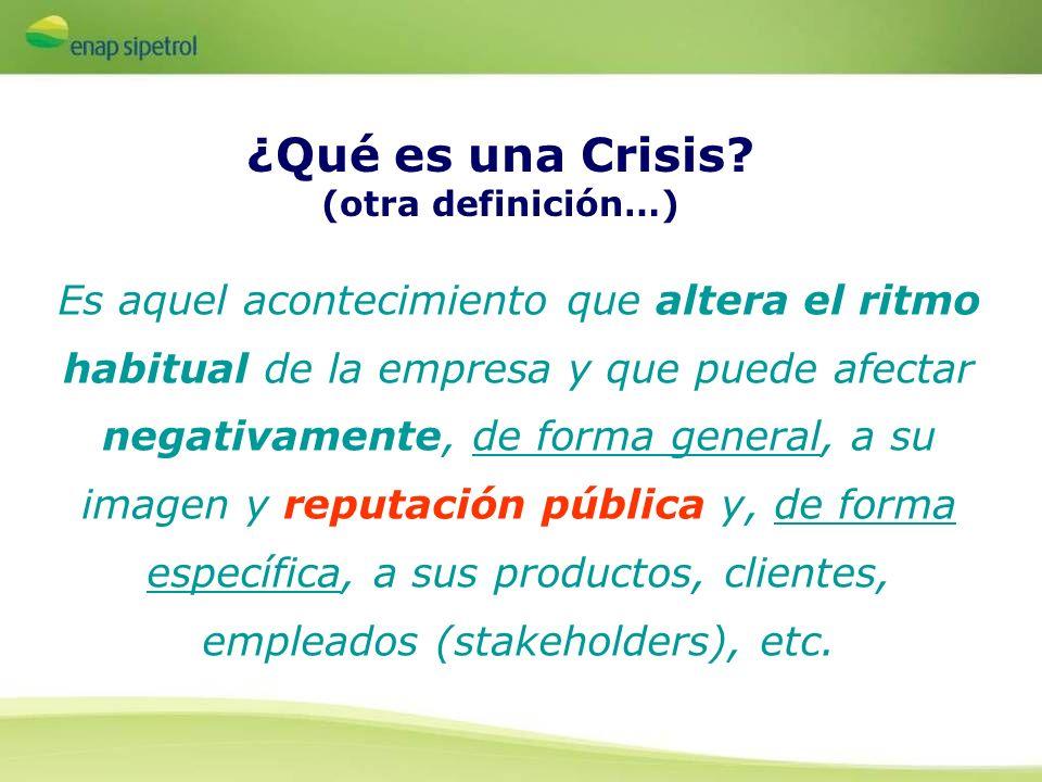 ¿Qué es una Crisis (otra definición…)