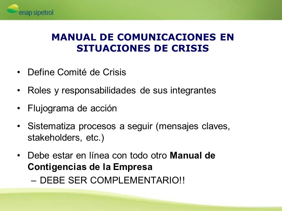 MANUAL DE COMUNICACIONES EN SITUACIONES DE CRISIS
