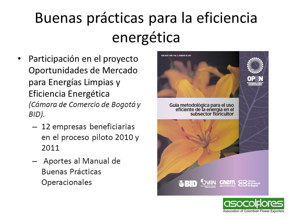Buenas prácticas para la eficiencia energética
