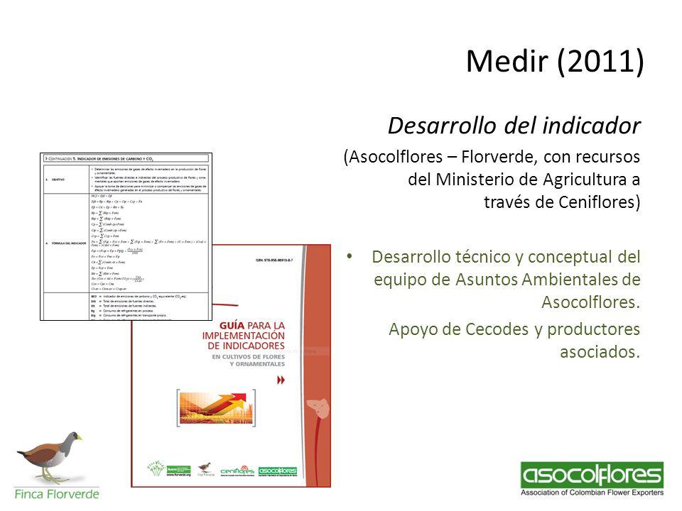 Medir (2011) Desarrollo del indicador