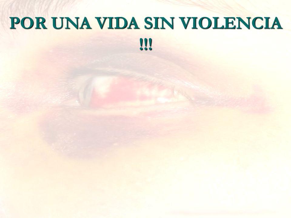 POR UNA VIDA SIN VIOLENCIA !!!