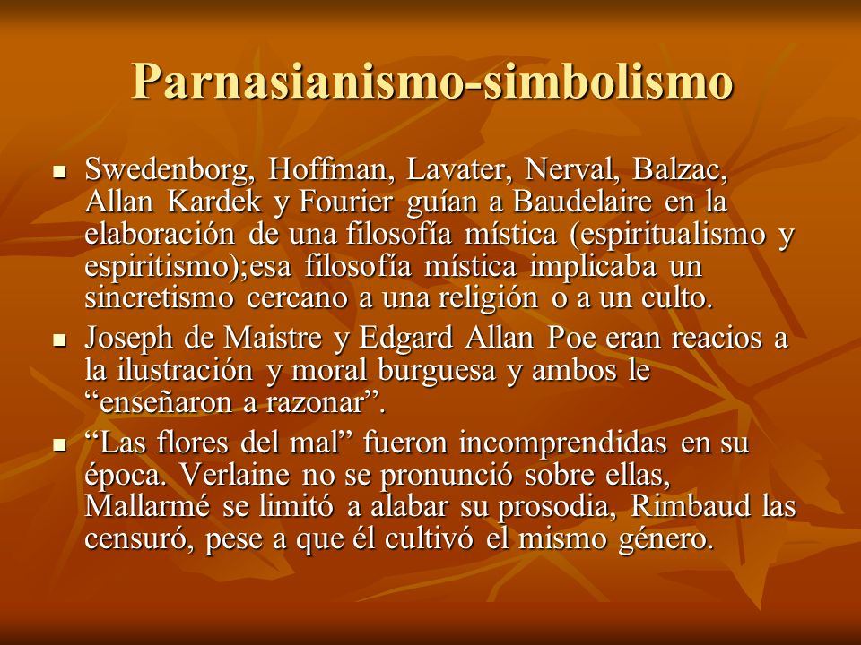 Parnasianismo-simbolismo