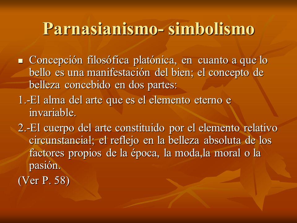 Parnasianismo- simbolismo