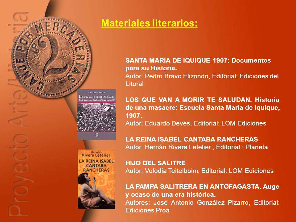 Materiales literarios: