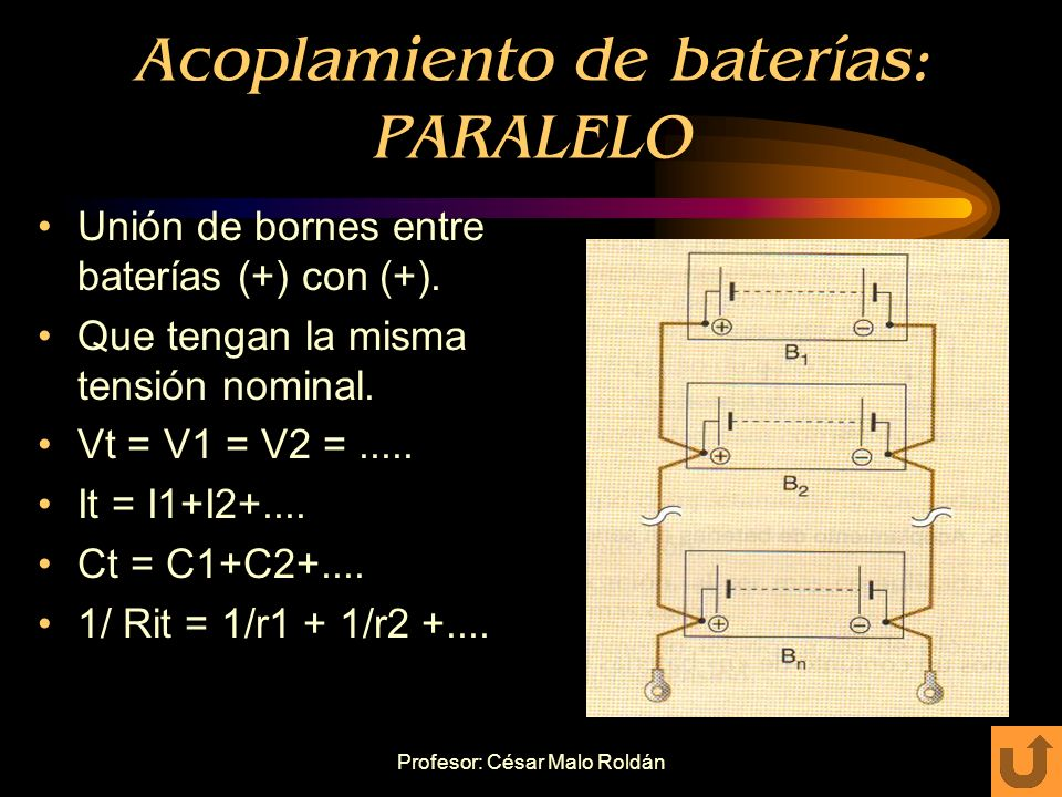 Acoplamiento de baterías: PARALELO