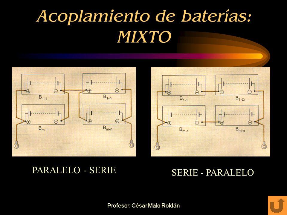 Acoplamiento de baterías: MIXTO