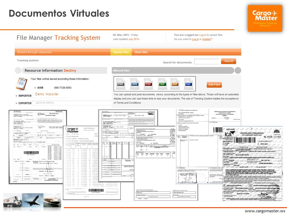 Documentos Virtuales Demo Importer SAMPLE FARMS