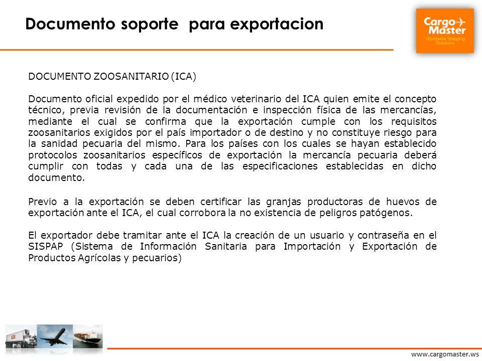 Documento soporte para exportacion