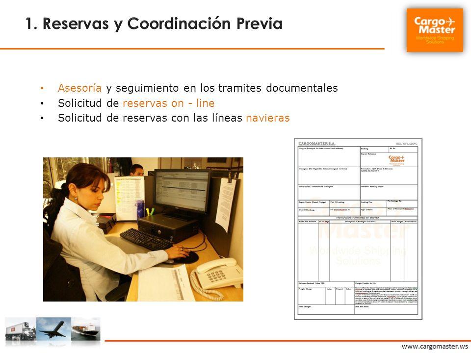 1. Reservas y Coordinación Previa