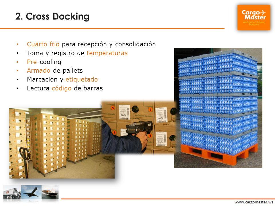 2. Cross Docking Cuarto frio para recepción y consolidación