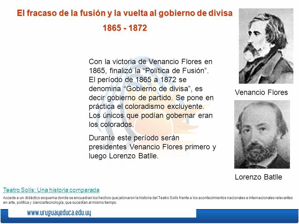 El fracaso de la fusión y la vuelta al gobierno de divisa