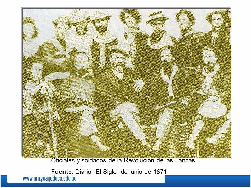 Oficiales y soldados de la Revolución de las Lanzas