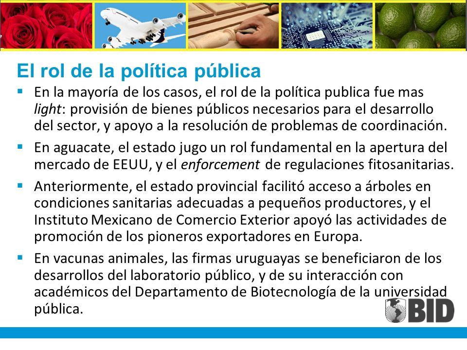 El rol de la política pública
