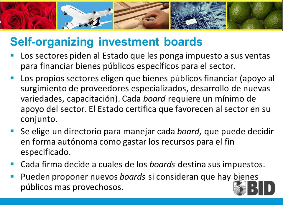 Self-organizing investment boards