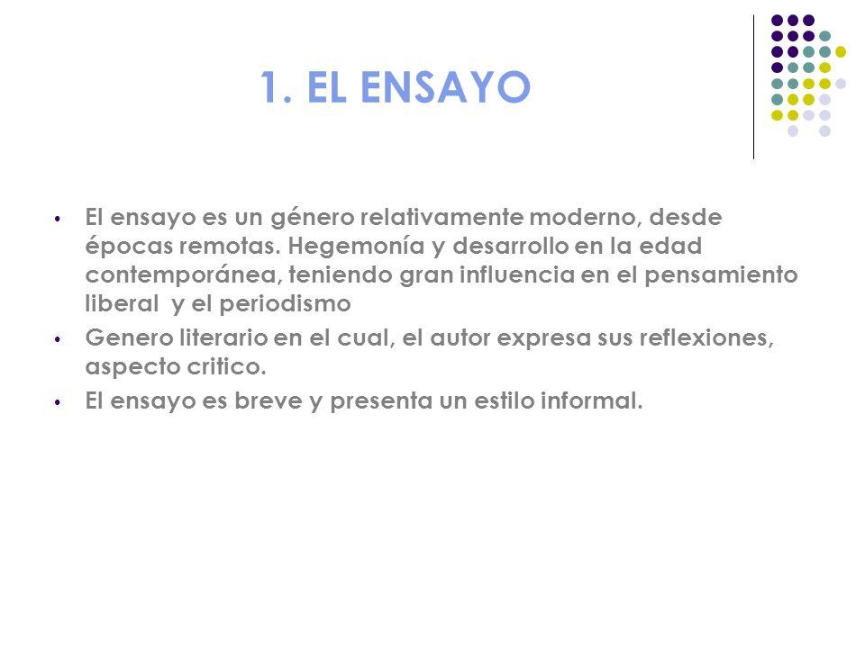 1. EL ENSAYO