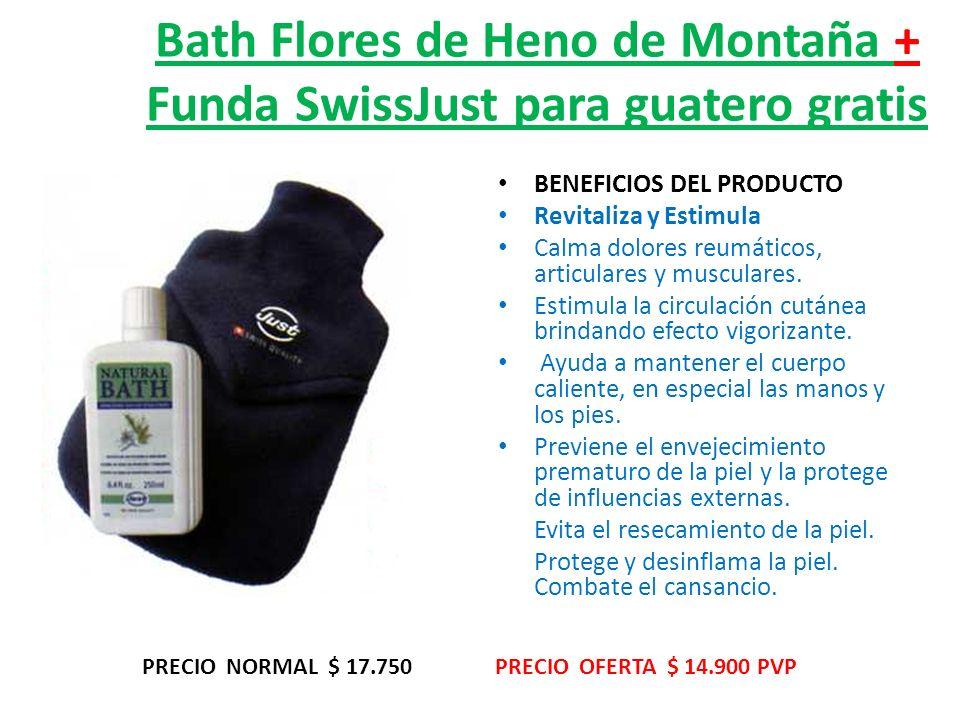 Bath Flores de Heno de Montaña + Funda SwissJust para guatero gratis