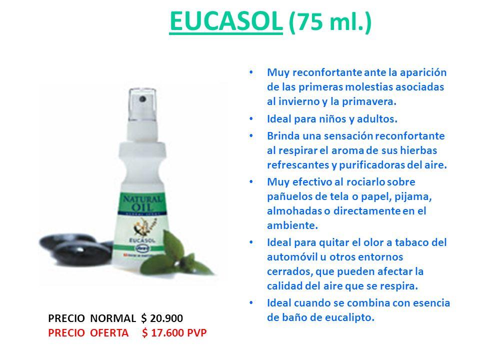 EUCASOL (75 ml.) Muy reconfortante ante la aparición de las primeras molestias asociadas al invierno y la primavera.