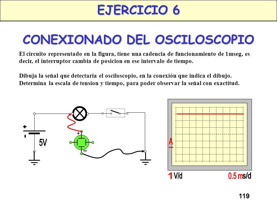 EJERCICIO 6 CONEXIONADO DEL OSCILOSCOPIO