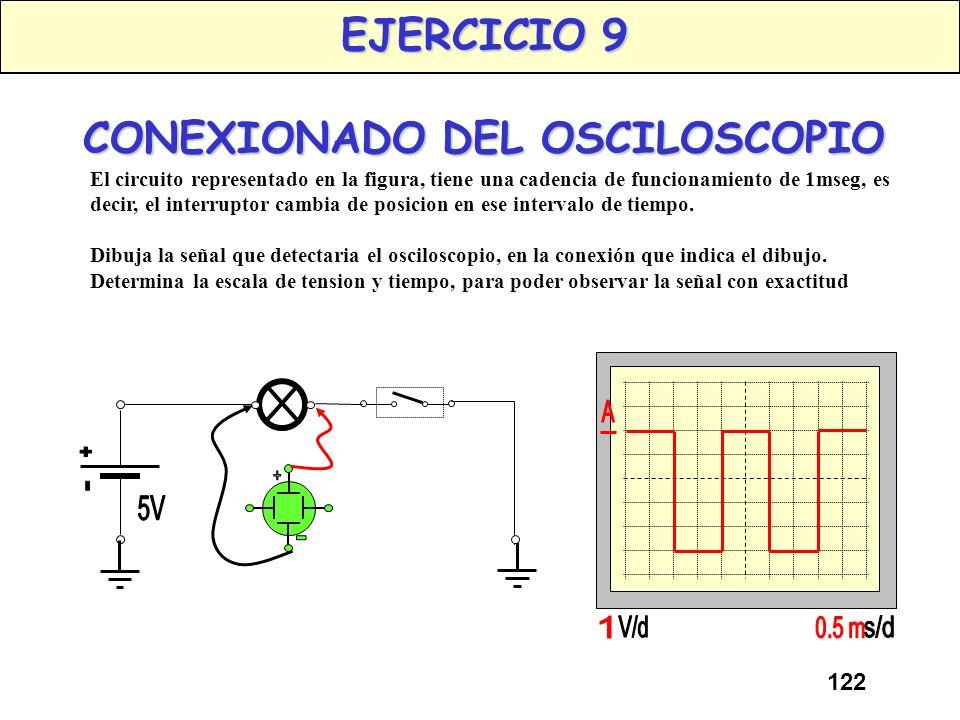 EJERCICIO 9 CONEXIONADO DEL OSCILOSCOPIO