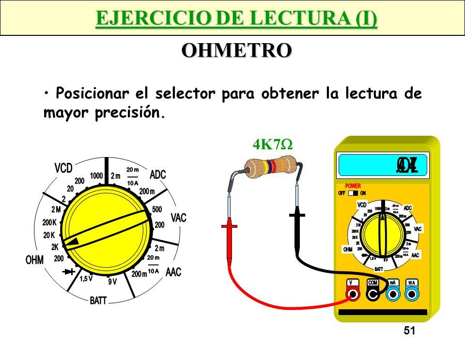 EJERCICIO DE LECTURA (I) OHMETRO