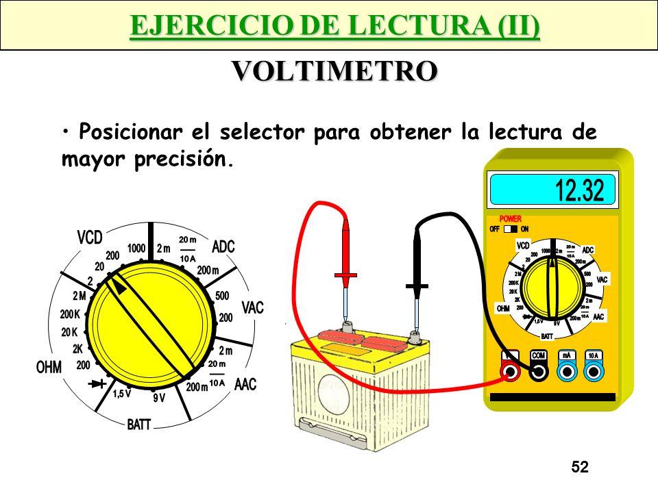 EJERCICIO DE LECTURA (II) VOLTIMETRO