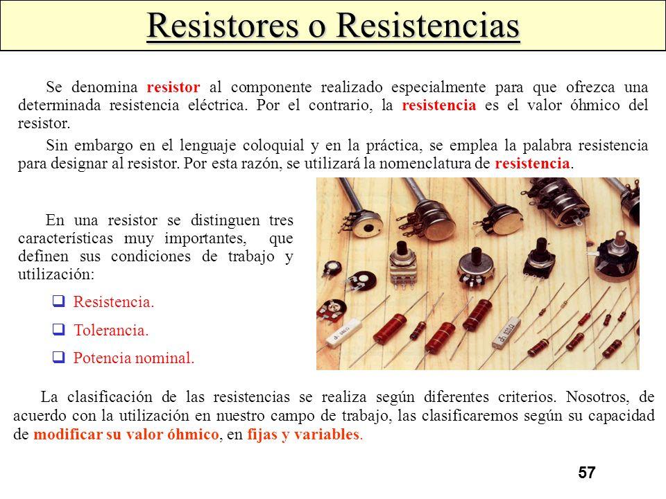 Resistores o Resistencias