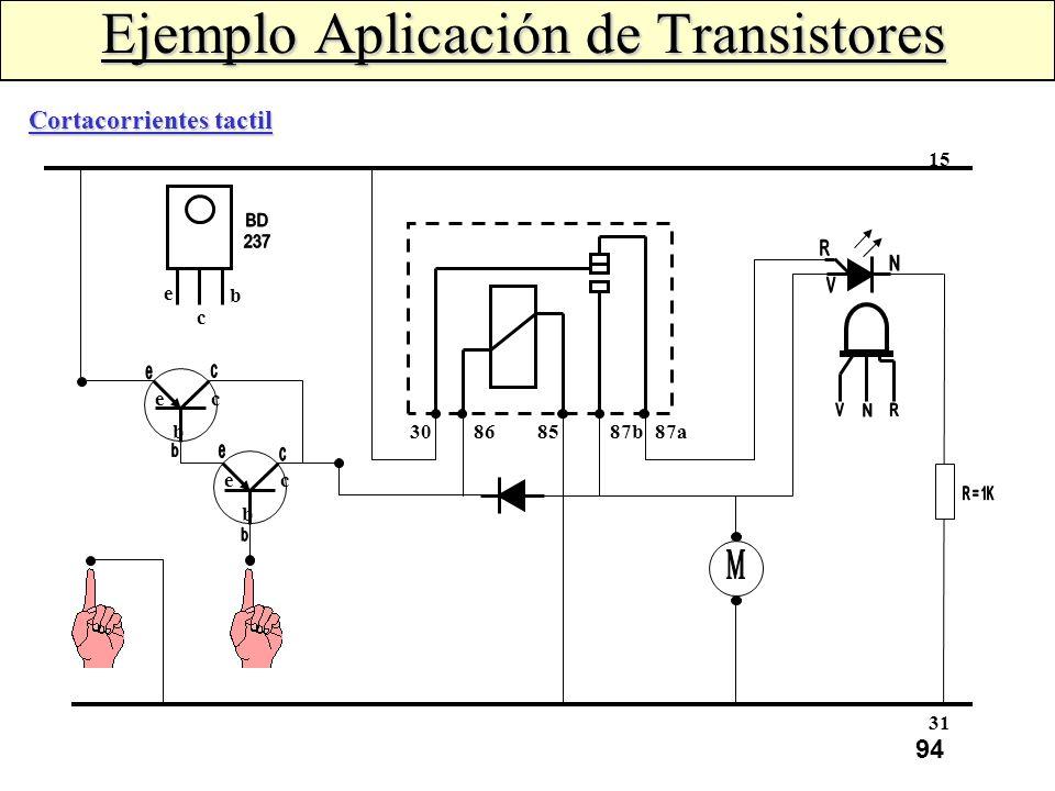 Ejemplo Aplicación de Transistores