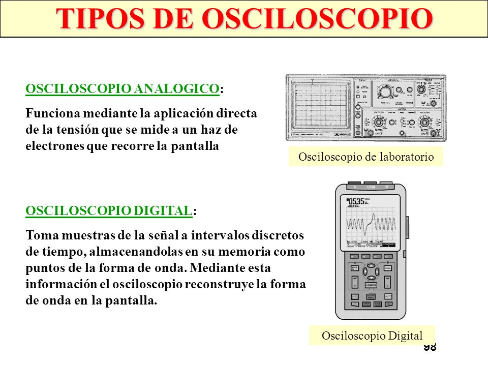 Osciloscopio de laboratorio